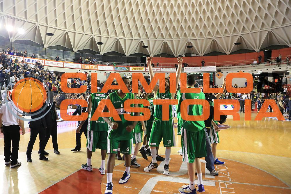 DESCRIZIONE : Roma Lega A 2012-2013 Acea Roma Sidigas Avellino<br /> GIOCATORE : team <br /> CATEGORIA : esultanza<br /> SQUADRA : Sidigas Avellino<br /> EVENTO : Campionato Lega A 2012-2013 <br /> GARA : Acea Roma Sidigas Avellino<br /> DATA : 07/04/2013<br /> SPORT : Pallacanestro <br /> AUTORE : Agenzia Ciamillo-Castoria/M.Simoni<br /> Galleria : Lega Basket A 2012-2013  <br /> Fotonotizia : Roma Lega A 2012-2013 Acea Roma Sidigas Avellino<br /> Predefinita :