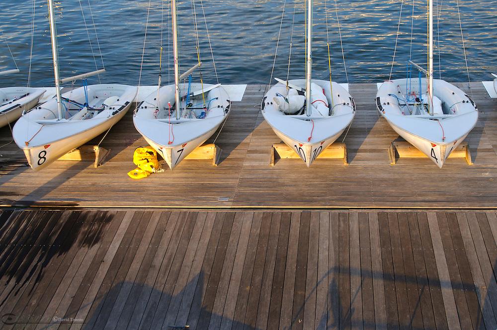 Sailboats at dock, Annapolis Maryland, United States.
