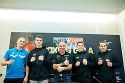 Denis Lazar, Jan Sekol, Dejan Zavec, Tomi Lorencic and Aljaz Venko during press conference of Boxing Gala events organised by Dejan Zavec, on February 21, 2017 in Hotel Union, Ljubljana, Slovenia. Photo by Vid Ponikvar / Sportida