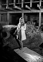 BRIGITTE BARDOT at the filming of Shakespeare's film version of Othello on location at the building site of the Berkeley Hotel, London on 20th September 1966.