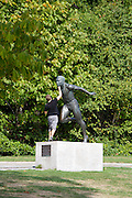 Stanley Park. Harry Jerome statue (a Canadian Olympic runner and World record holder).