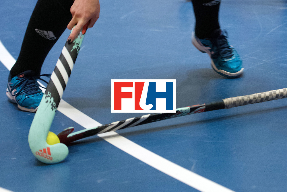 BERLIN - Indoor Hockey World Cup<br /> Belarus - Poland<br /> foto: <br /> WORLDSPORTPICS COPYRIGHT FRANK UIJLENBROEK