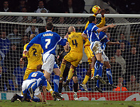 Photo: Ashley Pickering.<br />Ipswich Town v Burnley. Coca Cola Championship. 02/12/2006.<br />Burnley's Gifton Noel-Williams handles the ball in the area and a penalty is awarded