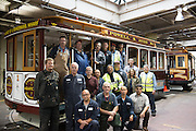 Group of Shop Personnel with Restored Cable Car 1 | December 3, 2014