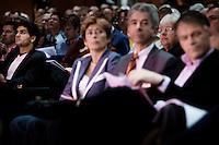 Nederland. Amsterdam, 6 oktober 2007.<br /> PvdA Congres in de RAI. Ehsan Jami, Ronald Plasterk, Guusje ter Horst en Wouter Bos<br /> Foto Martijn Beekman <br /> NIET VOOR TROUW, AD, TELEGRAAF, NRC EN HET PAROOL