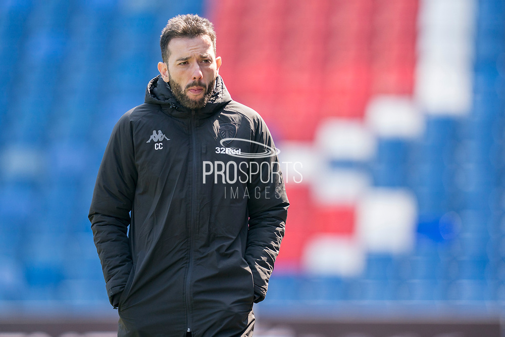 Leeds United U23's manager Carlos Corberan during the U23 Professional Development League match between U23 Crystal Palace and Leeds United at Selhurst Park, London, England on 15 April 2019.