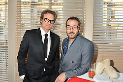 Left to right, COLIN FIRTH and JEREMY PIVEN at the Audi Ballet Evening at The Royal Opera House, Covent Garden, London on 23rd April 2015.