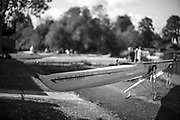 Maidenhead. Berkshire. United Kingdom. General view Competitors boats on trestles beside, Maidenhead RC Boathouse. 2017 Maidenhead Junior Regatta  River Thames. <br /> <br /> [&copy;Peter SPURRIER/Intersport Images] Sunday. 14.05.2017