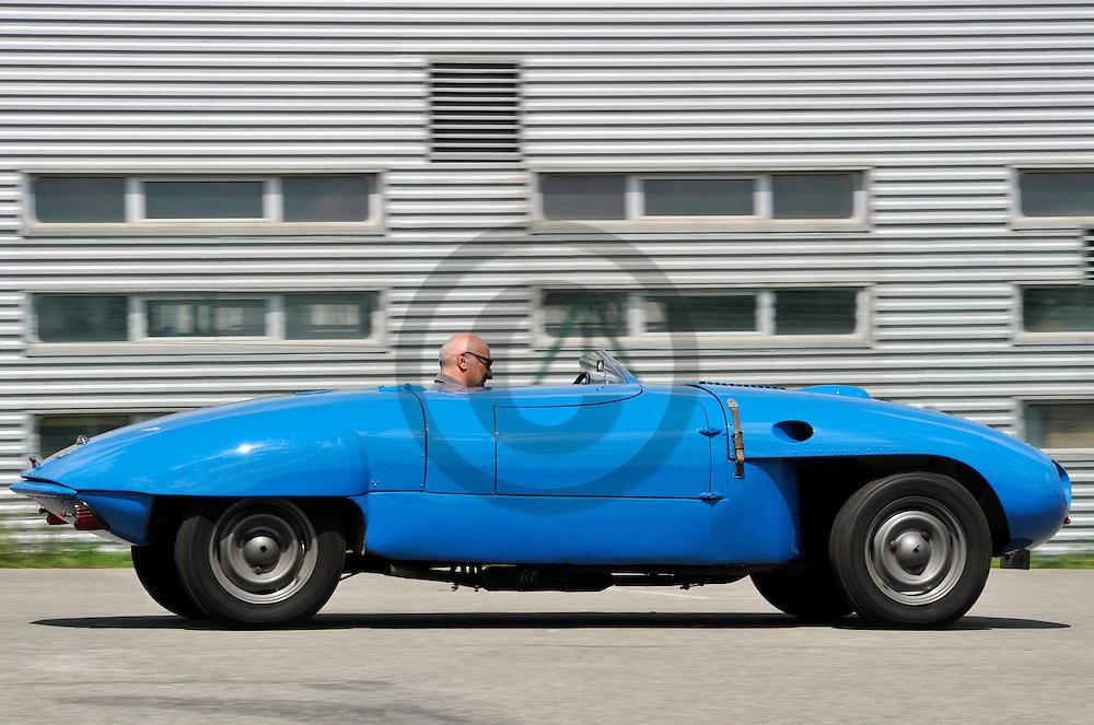 29/07/11 - AGEN - LOT ET GARONNE - FRANCE - Essais Barquette Peugeot 203 BARBIER de 1953 - Photo Jerome CHABANNE