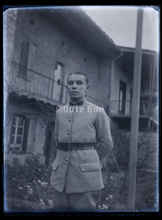 portrait of young soldier in uniform France 1933