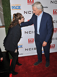 (L-R) Laura San Giacomo and Mark Harmon at the TV Guide Magazine and CBS Celebrate Mark Harmon Cover & 15 Seasons Of NCIS held at the River Rock at Sportsmen's Lodge in Studio City, CA on Monday, November 6, 2017. (Photo By Sthanlee B. Mirador/Sipa USA)
