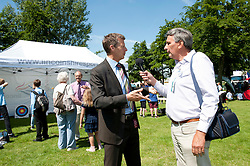 Pictured is Steve Cram in the Sports Zone at the Lincolnshire Showground being interviewed by Lincoln City Radio<br /> <br /> Steve Cram spent the day at the Lincolnshire Show with Clydesdale Bank and Yorkshire Bank.  He also visited the Sports Zone, at the show, which was organised by Lincolnshire Sport.<br /> <br /> Picture: Chris Vaughan/Chris Vaughan Photography<br /> Date: Wednesday, June 24, 2015