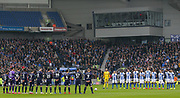 Minutes applause to remember the late Gordon Banks during the The FA Cup 5th round match between Brighton and Hove Albion and Derby County at the American Express Community Stadium, Brighton and Hove, England on 16 February 2019.