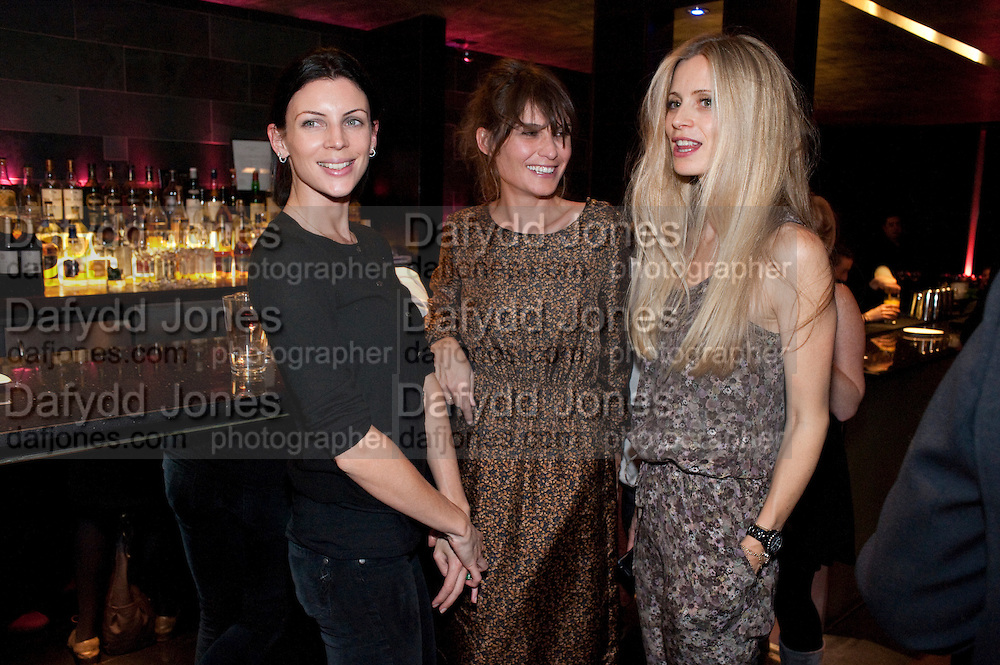 LIBERTY ROSS; SHEHEREZADE GOLDSMITH;  LAURA BAILEY;, party after the Press Night of 'Death And The Maiden'  ( which opened at the Harold Pinter Theatre.) Mint Leaf Restaurant & bar. Haymarket. London. 24 October 2011. <br /> <br />  , -DO NOT ARCHIVE-© Copyright Photograph by Dafydd Jones. 248 Clapham Rd. London SW9 0PZ. Tel 0207 820 0771. www.dafjones.com.