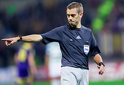 Referee Clément Turpin (FRA) during football match between NK Maribor and Sporting Lisbon (POR) in Group G of Group Stage of UEFA Champions League 2014/15, on September 17, 2014 in Stadium Ljudski vrt, Maribor, Slovenia. Photo by Vid Ponikvar  / Sportida.com