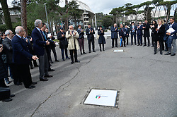 March 12, 2018 - Rome, Italy - The president of the Italian Olympic Committee (CONI), Giovanni Malago arrives for the ceremony Walk of Fame in Rome, Italy, on 12 March 2018. The Walk of Fame is enriched with 5 more samples. Along the Via Olimpiadi, which leads straight to the Olympic stadium in Rome, new plates have been added dedicated to five blue champions no longer in business. (Credit Image: © Silvia Lore/NurPhoto via ZUMA Press)
