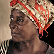 African woman in bright headscarf