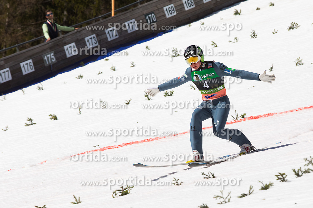 Anze Lanisek (SLO) during the 2nd round of the Ski Flying Hill Individual Competition at Day 4 of FIS Ski Jumping World Cup Final 2019, on March 24, 2019 in Planica, Slovenia. Photo Peter Podobnik / Sportida