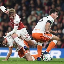 Arsenal v Blackpool, Carabao Cup, 31 October 2018