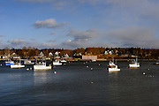 View of Bass Harbor from the fishing village of Bernard, Maine
