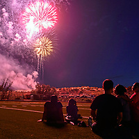 Fireworks over Gallup as part of the Stars and Stripes 4th of July Celebration Wednesday night at the Gallup Sports Complex.