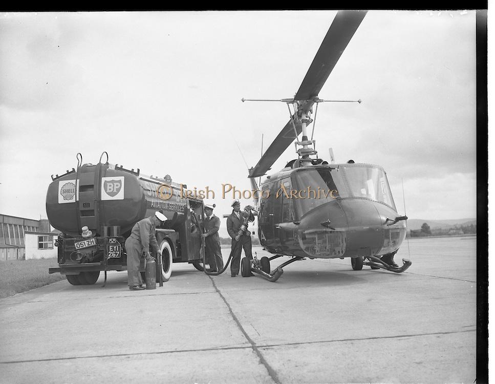 22/08/1962<br /> 08/22/1962<br /> 22 August, 1962<br /> Irish Shell refuelling American President Eisenhower's helicopter at Baldonnel, Dublin.