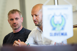 Ivo Jan and Dejan Kontrec at press conference of HZS and Nik Zupancic as a new head coach of Slovenian national hockey team, on June 15th, in Hala Tivoli , Ljubljana, Slovenia. Photo by Matic Klansek Velej / Sportida