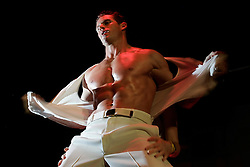 Male stripper Mat performs during the Hunk Mania show, Friday, June 9, 2006 in New York.