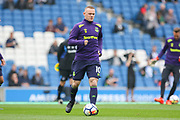 Everton striker Wayne Rooney (10) in warm up during the Premier League match between Brighton and Hove Albion and Everton at the American Express Community Stadium, Brighton and Hove, England on 15 October 2017. Photo by Phil Duncan.