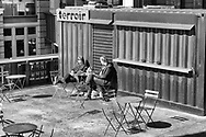 A still quiet spot to enjoy a coffee and some sun....<br /> The Highline Park, New York City.