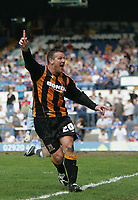 Photo: Lee Earle.<br /> Cardiff City v Hull City. Coca Cola Championship. 28/04/2007.Hull's Dean Windass celebrates scoring their opening goal.