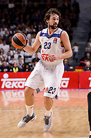 Real Madrid's Sergio Llull during Turkish Airlines Euroleague match between Real Madrid and Maccabi at Wizink Center in Madrid, Spain. January 13, 2017. (ALTERPHOTOS/BorjaB.Hojas)
