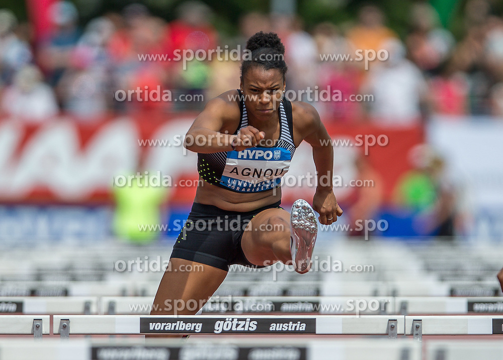 28.05.2016, Moeslestadion, Goetzis, AUT, 42. Hypo Meeting Goetzis 2016, Siebenkampf der Frauen, 100 Meter Huerden, im Bild Caroline Agnou (SUI) // Caroline Agnou of Switzerland during the 100 metres hurdles event of the Heptathlon competition at the 42th Hypo Meeting at the Moeslestadion in Goetzis, Austria on 2016/05/28. EXPA Pictures © 2016, PhotoCredit: EXPA/ Peter Rinderer