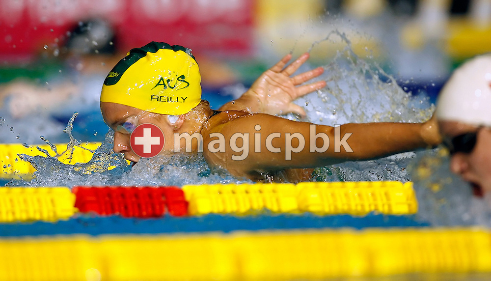Jennifer Reilly of Australia swims the butterfly leg in the women's 400m individual medley (IM) heats in the Susie O'Neill pool at the FINA Swimming World Championships in Melbourne, Australia, Sunday 1 April 2007. (Photo by Patrick B. Kraemer / MAGICPBK)