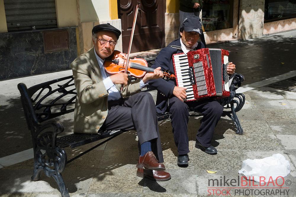 Street musicians.Jerez de la Frontera, Cadiz, Andalusia. Spain