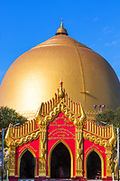 golden dome of the Kaunghmudaw Pagoda Sagaing Myanmar (Burma)