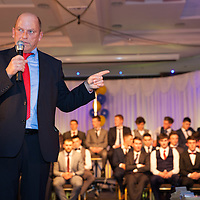 Ger Loughnane, providing words of wisdom to the current Clare U21 Hurling Hurling Panel during the Winners Medal presentation in West county Hotel on Saturday 06 Dec