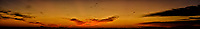 Indian Ocean Dawn Panorama from the deck of the MV World Odyssey. Clouds and Sun Beams. Composite of 39 images taken with a Nikon 1 V3 camera and 70-300 mm VR lens. Raw images processed with Capture One Pro and the composite created with AutoPano Giga Pro.