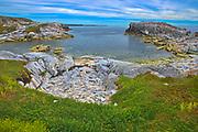 Rocky shoreline along the Atlantic Ocean<br />Rose Blanche<br />Newfoundland & Labrador<br />Canada