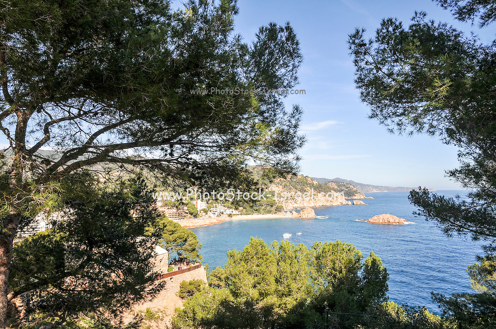 The cliff and cost, Tossa De Mar, Costa Brava, Spain