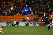Oldham Athletic Midfielder, Liam Kelly during the Sky Bet League 1 match between Blackpool and Oldham Athletic at Bloomfield Road, Blackpool, England on 16 February 2016. Photo by Pete Burns.