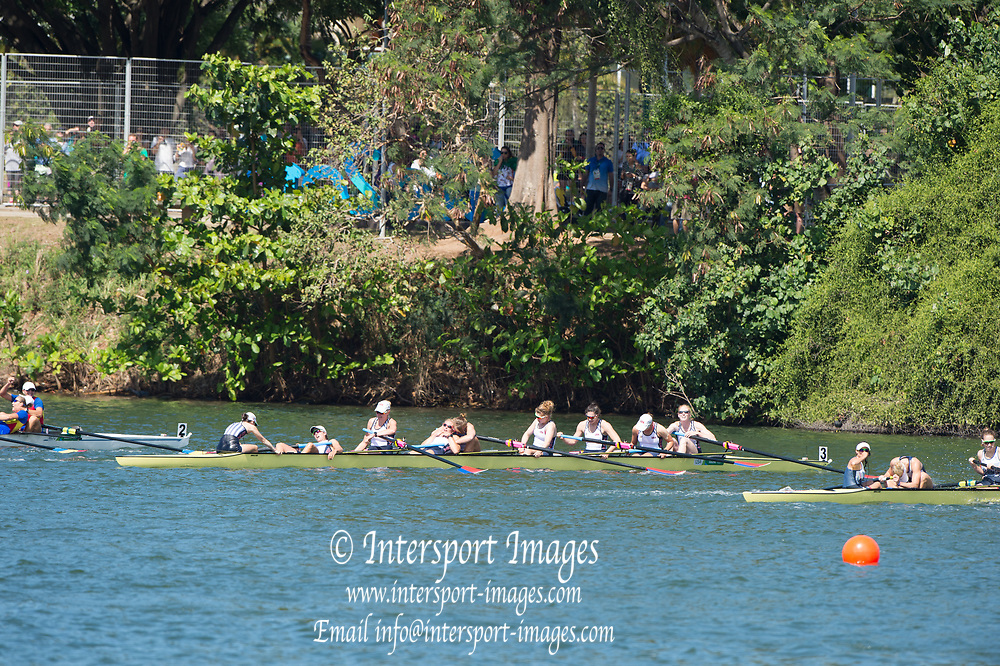 Rio de Janeiro. BRAZIL   Women's Eights Final. Gold Medalist USA W8+. Crew. Bow. Emily REGAN, Kerry SIMMONDS, Amanda POLK, Lauren SCHMETTERLING, Tessa GOBBO, Meghan MUSNICKI, Eleanor LOGAN, Amanda ELMORE and cox. Katelin SNYDER, 2016 Olympic Rowing Regatta. Lagoa Stadium, Copacabana,  &ldquo;Olympic Summer Games&rdquo;<br />
