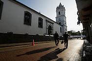 La Catedral de la Ciudad de Panama ubicada en casco antiguo. .El Casco antiguo es la ciudad colonial de Panamá, que fue reconstruida después del saqueo del pirata Henry Morgan. Actualmente conserva su  arquitectura colonial, y es visitada por turista por sus restaurantes, tiendas y galerías de arte..Foto: Ramon Lepage / Istmophoto.