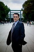 Tokyo, October 22 2010 - Portrait of Lionel Dersot, interpretor and creator of Freelance France Japon.