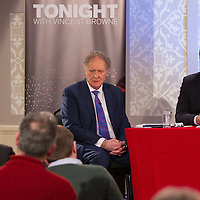 Vincent Browne and Clare Labour TD Michael McNamara during the People's Debate at the Auburn Lodge Hotel on Friday 16th January