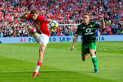 Guus Til of AZ, Jens Toornstra of Feyenoord during the Dutch Toto KNVB Cup Final match between AZ Alkmaar and Feyenoord on April 22, 2018 at the Kuip stadium in Rotterdam, The Netherlands.