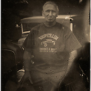 Tintype portrait of custom car builder Alex Gambino | Garage Magazine