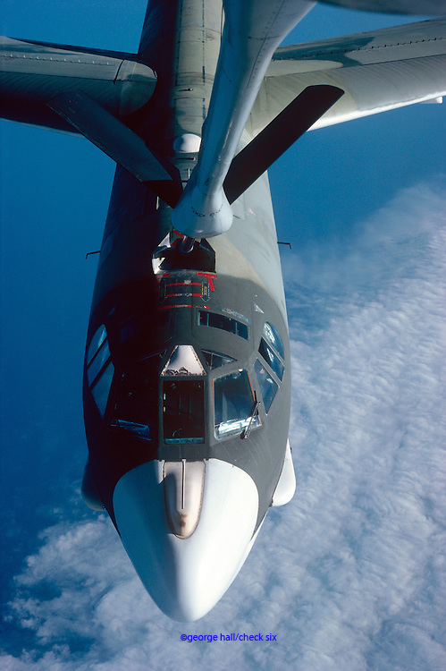 B52 Bomber preparing to refuel