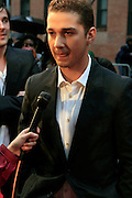 Shia LaBeouf at the BET Networks and Paramount special screening of Indiana Jones and the Kingdom of the Crystal Skull at The Magic Johnson Theater in Harlem, NYC on May 20, 2008