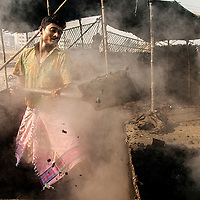 A man working in Hazardous lather industry in Hazaribag, Dhaka